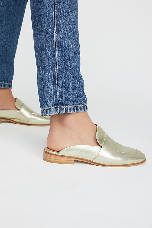 Free People At Ease Loafers - Gold