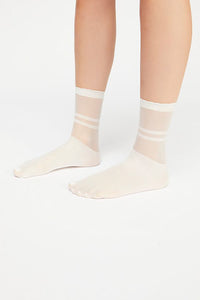 Free People Elouise Sheer Anklet - Ivory