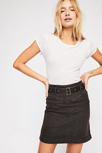 Free People Livin It Up Pencil Skirt - Black