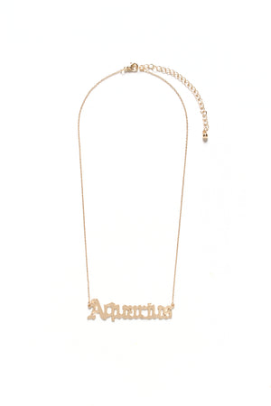 What's Your Sign Zodiac Necklace