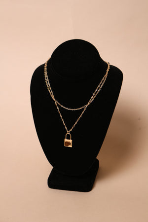 Layered Lock Necklace