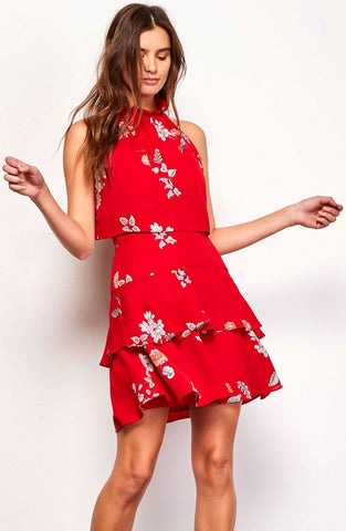 BB Dakota Cadence Floral Ruffle Dress
