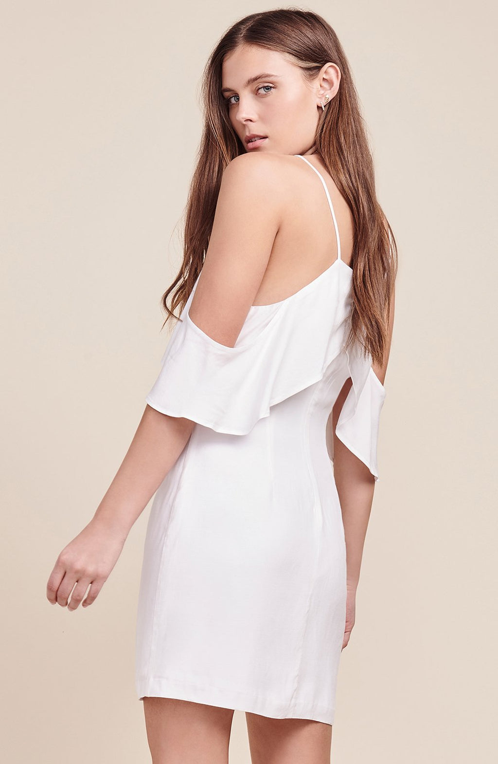 BB Dakota Kaless Off The Shoulder Ruffle Dress - White - Calico