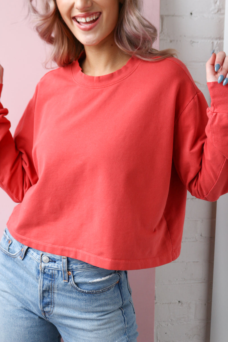 Project Social T You Say Boxy Sweatshirt