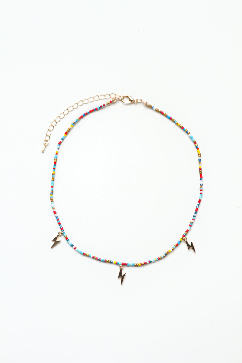 Lightning Bolt Rainbow Choker
