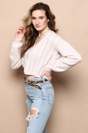 BB Dakota Ready And Cable Sweater
