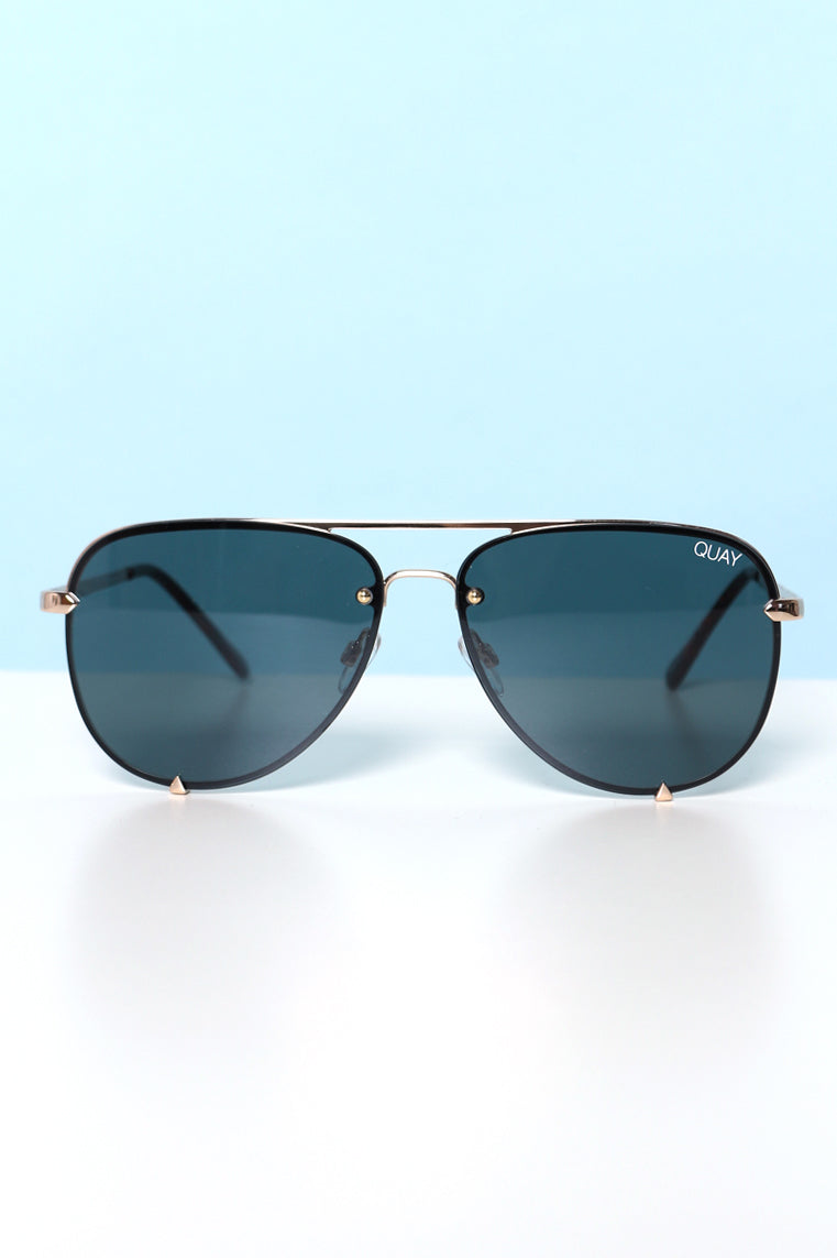 Quay High Key Mini Rimless Sunnies