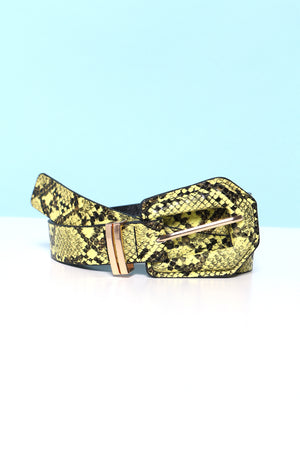 Snake It Happen Neon Belt