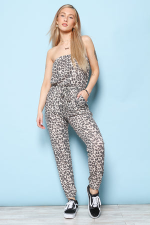 Are You Kitten Strapless Jumpsuit