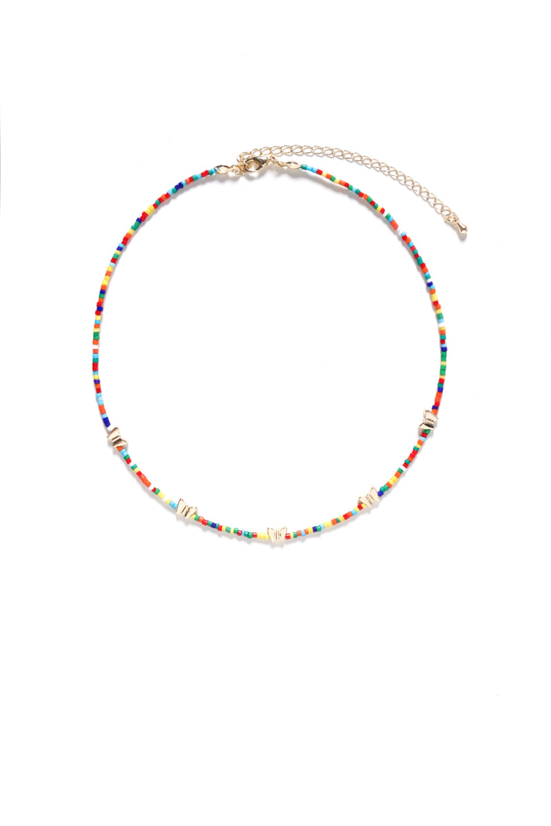 Butterfly Beaded Choker