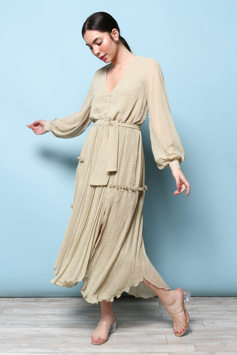 MINKPINK Pleated Maxi Dress