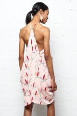 Take The Plunge Draped Origami Dress - Bird Of Paradise