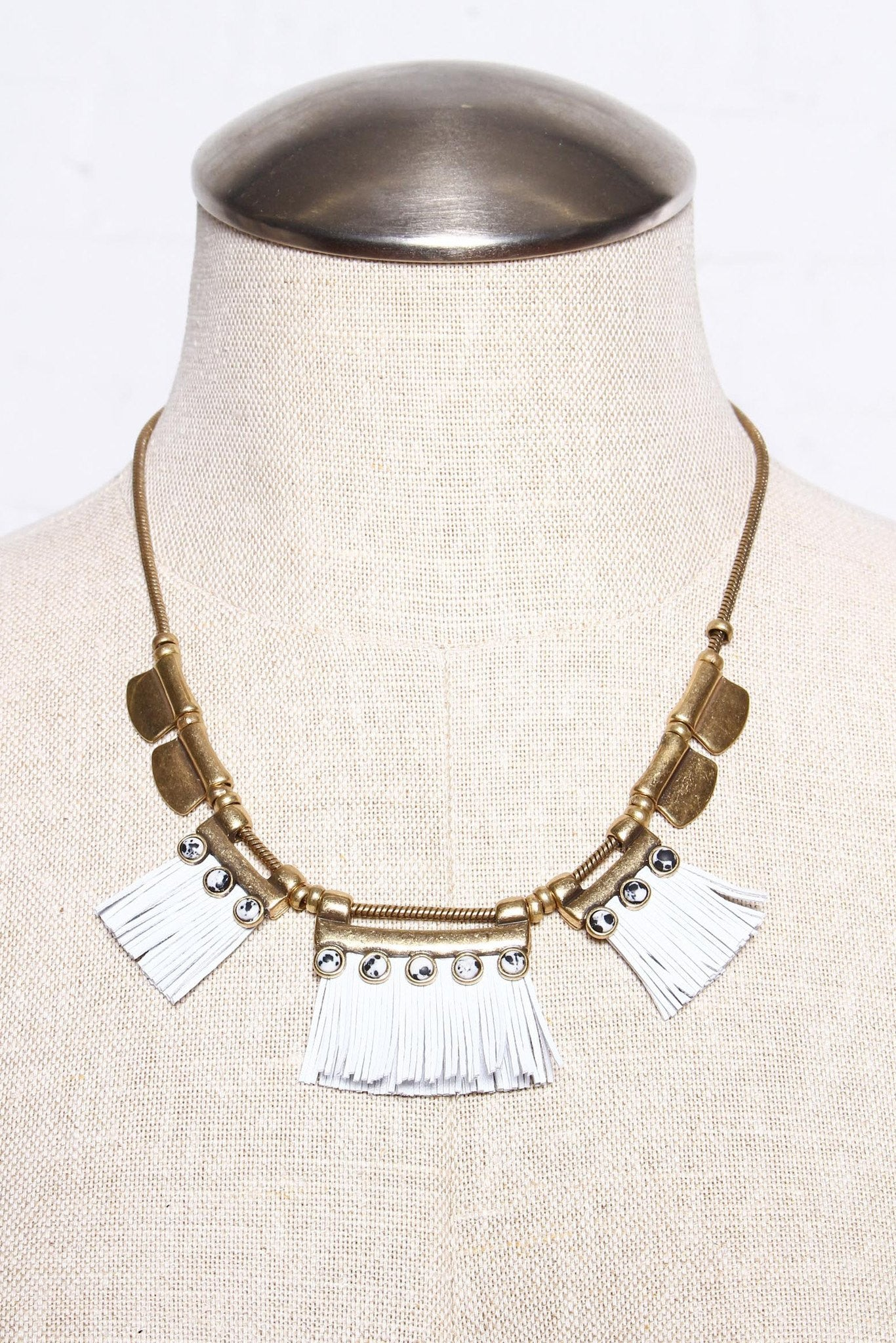 Back Down Fringe Necklace