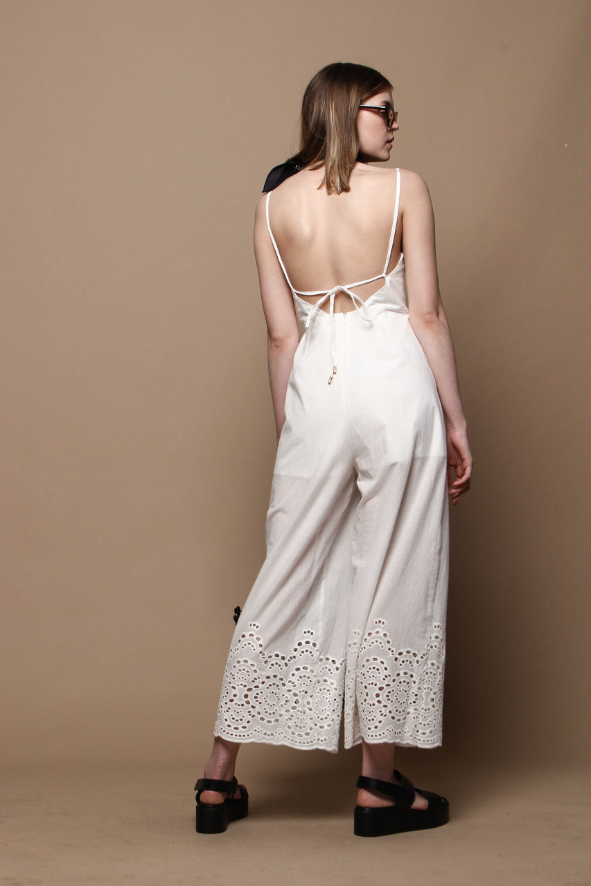 MINKPINK Harmony Cropped Jumpsuit - White