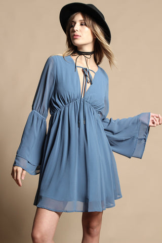 Lucca Gracie Bell Sleeve Dress