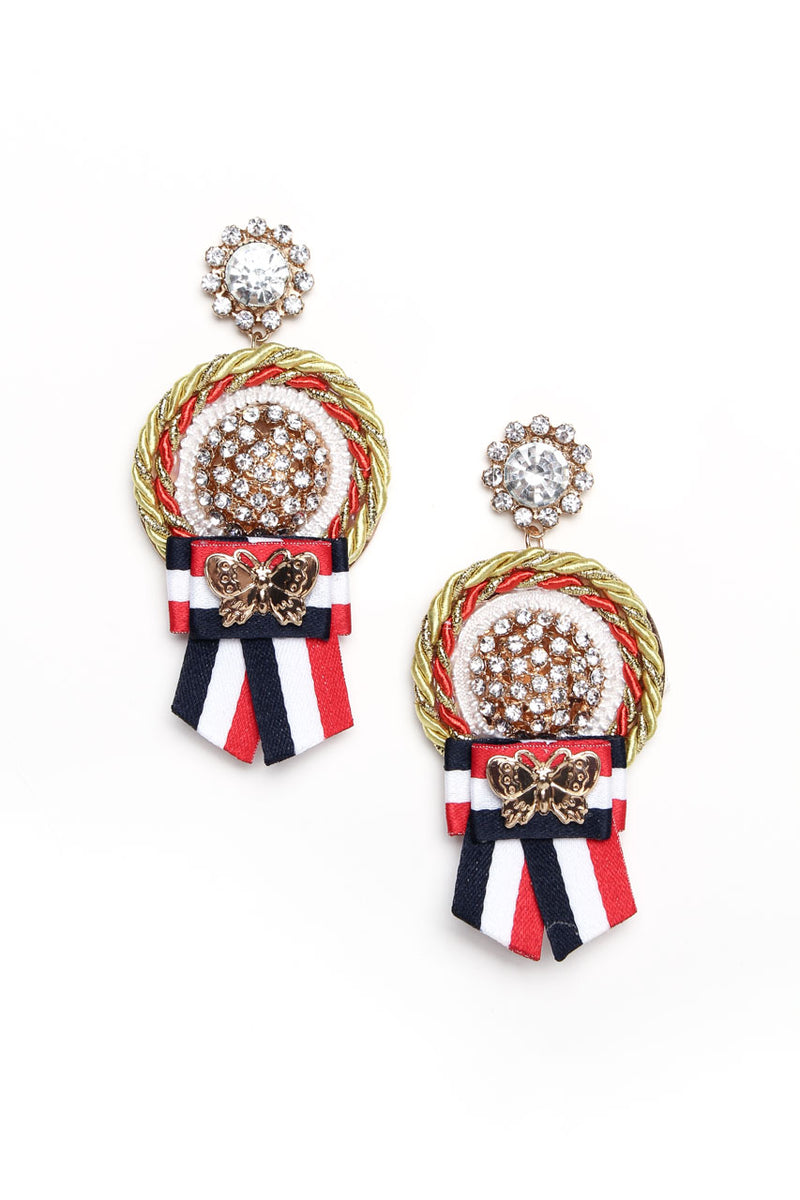 Medal Statement Earrings