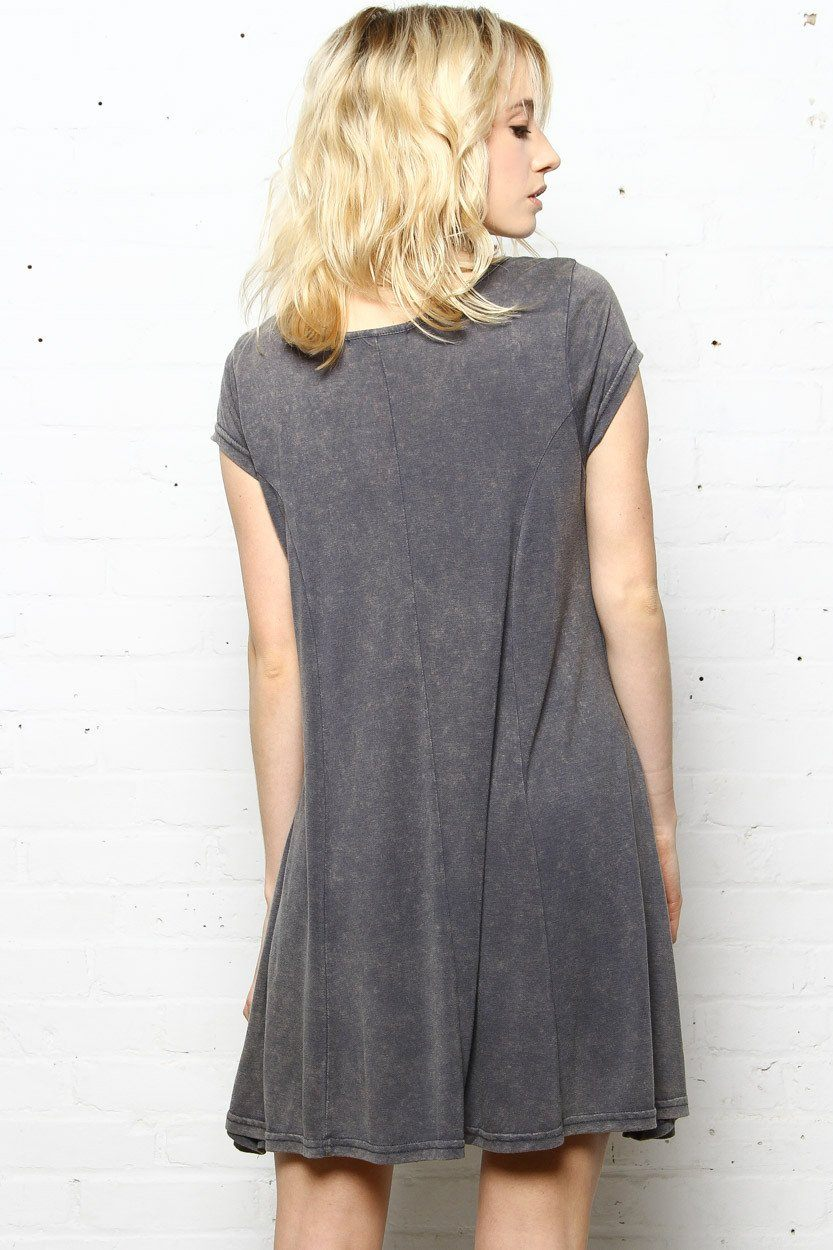 Swing To It Stone Washed Dress