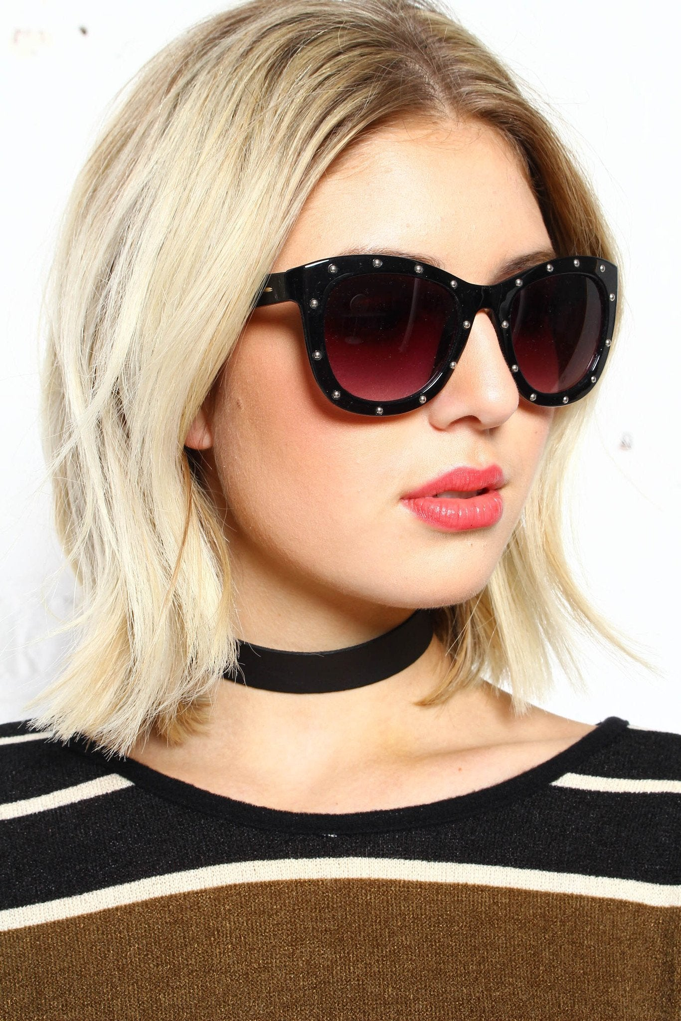 Throwing Shade Studded Sunnies