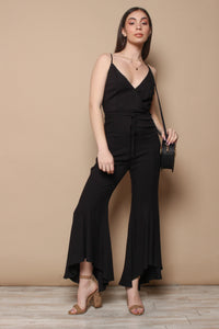 BB Dakota Mic Drop Flutter Leg Jumpsuit - Black