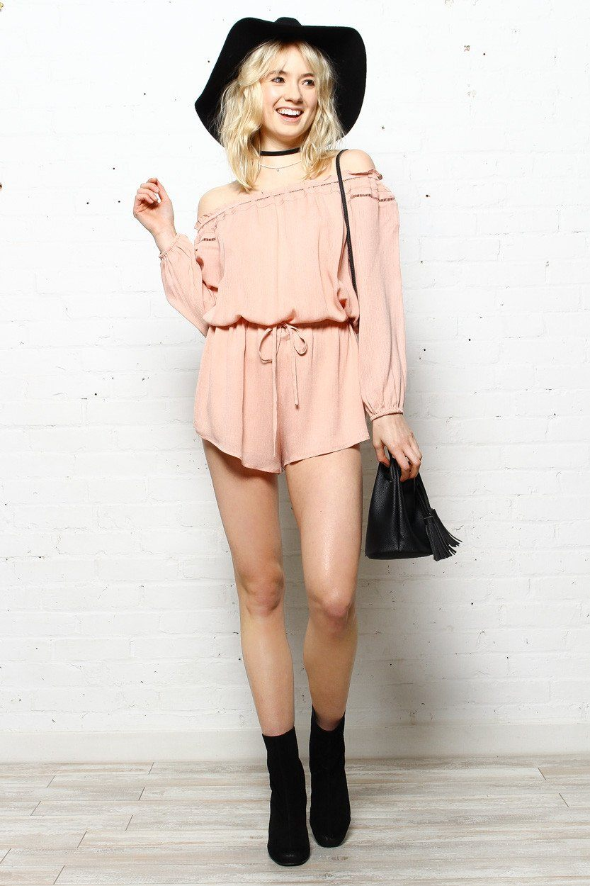 Lucca Maylin Off Shoulder Romper