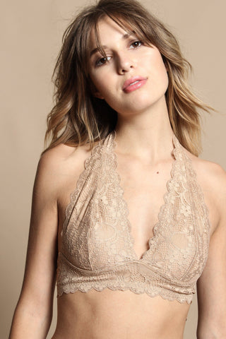 Free People Galloon Lace Halter - Beige