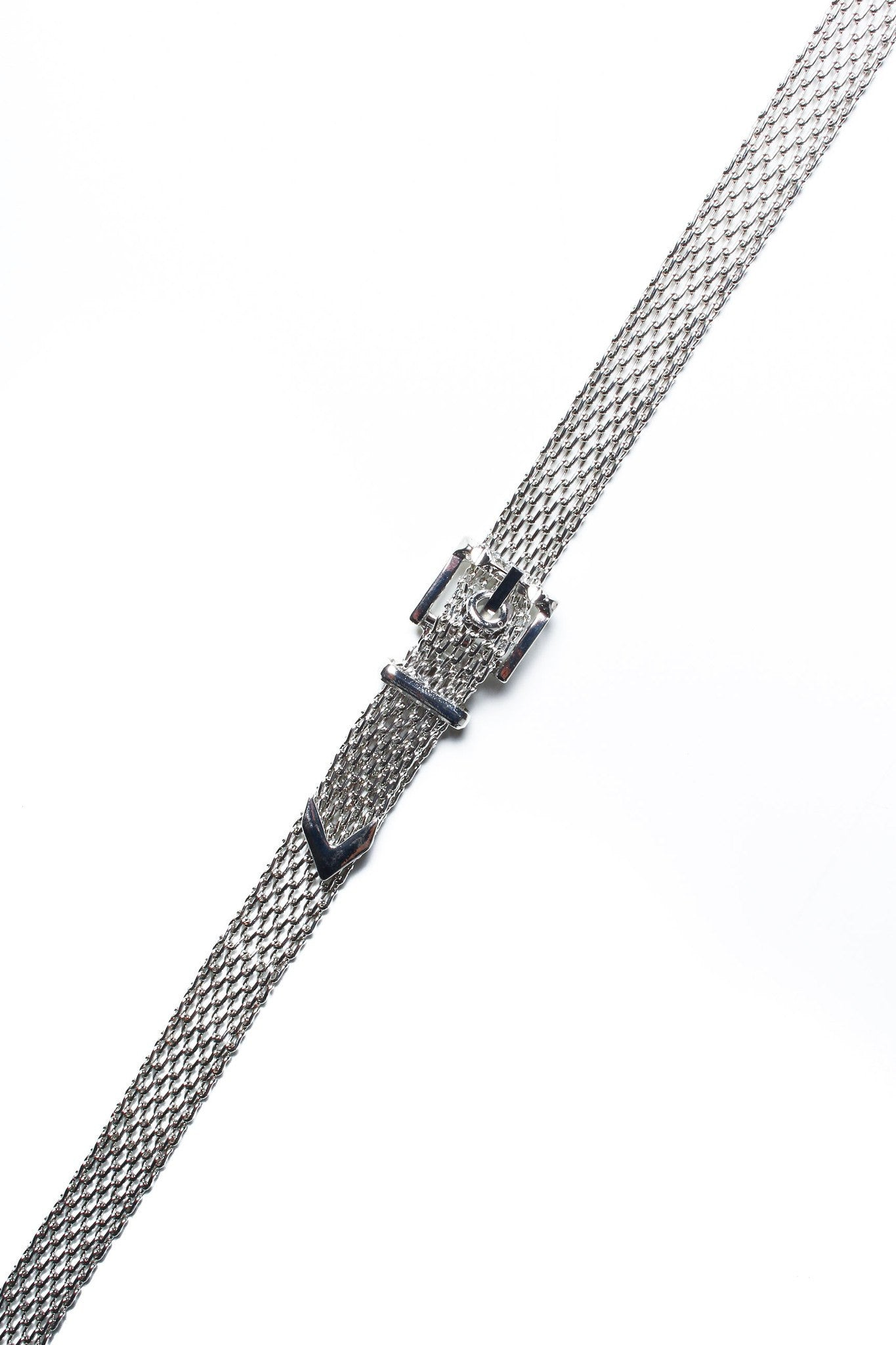 Buckle Down Choker - Silver