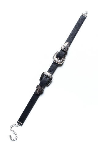 Double Trouble Buckle Choker