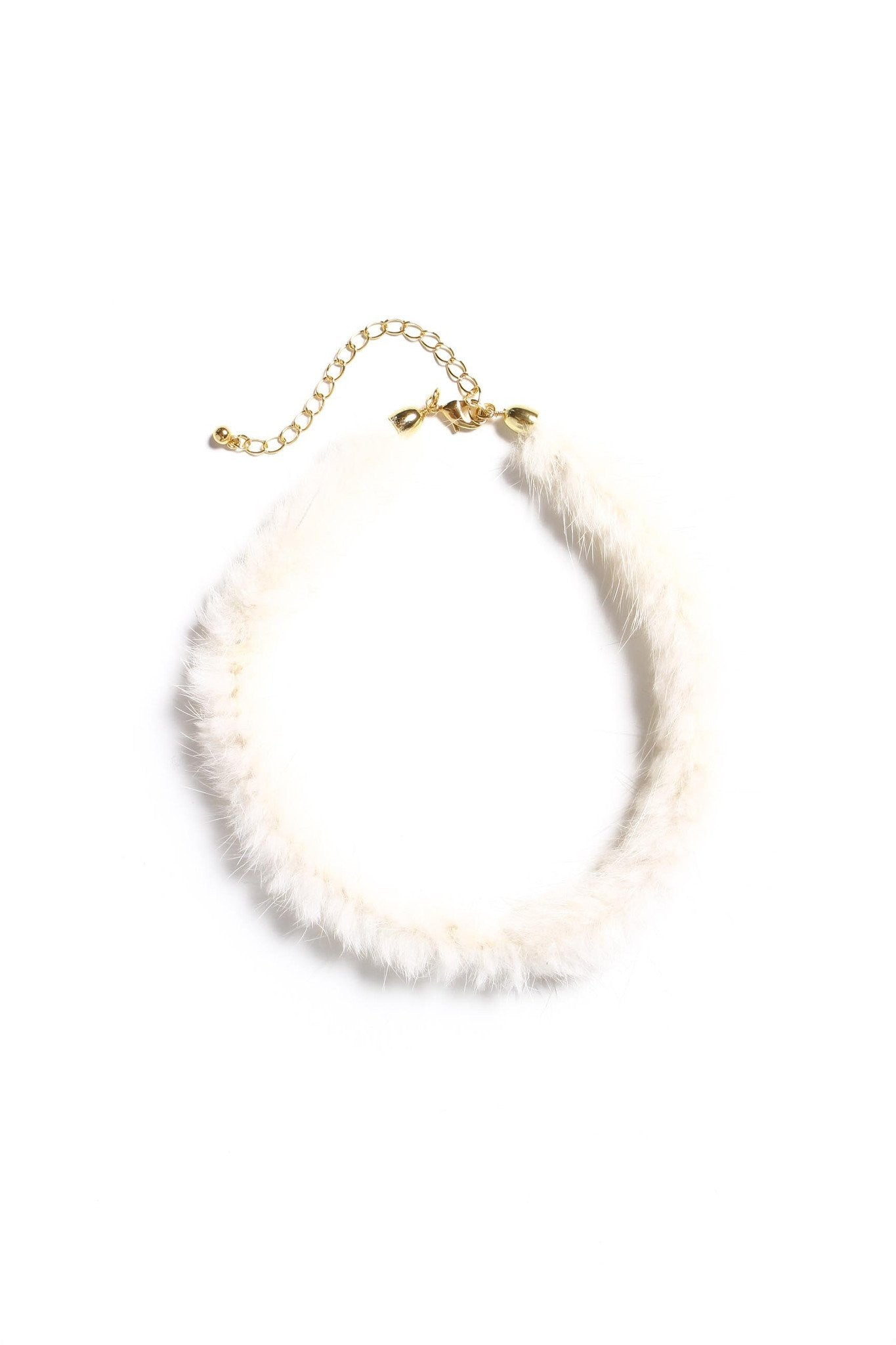 All The Fuzz Fur Choker - Cream