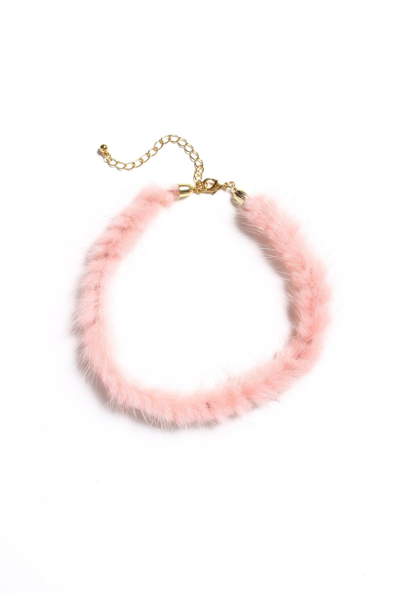 All The Fuzz Fur Choker - Pink