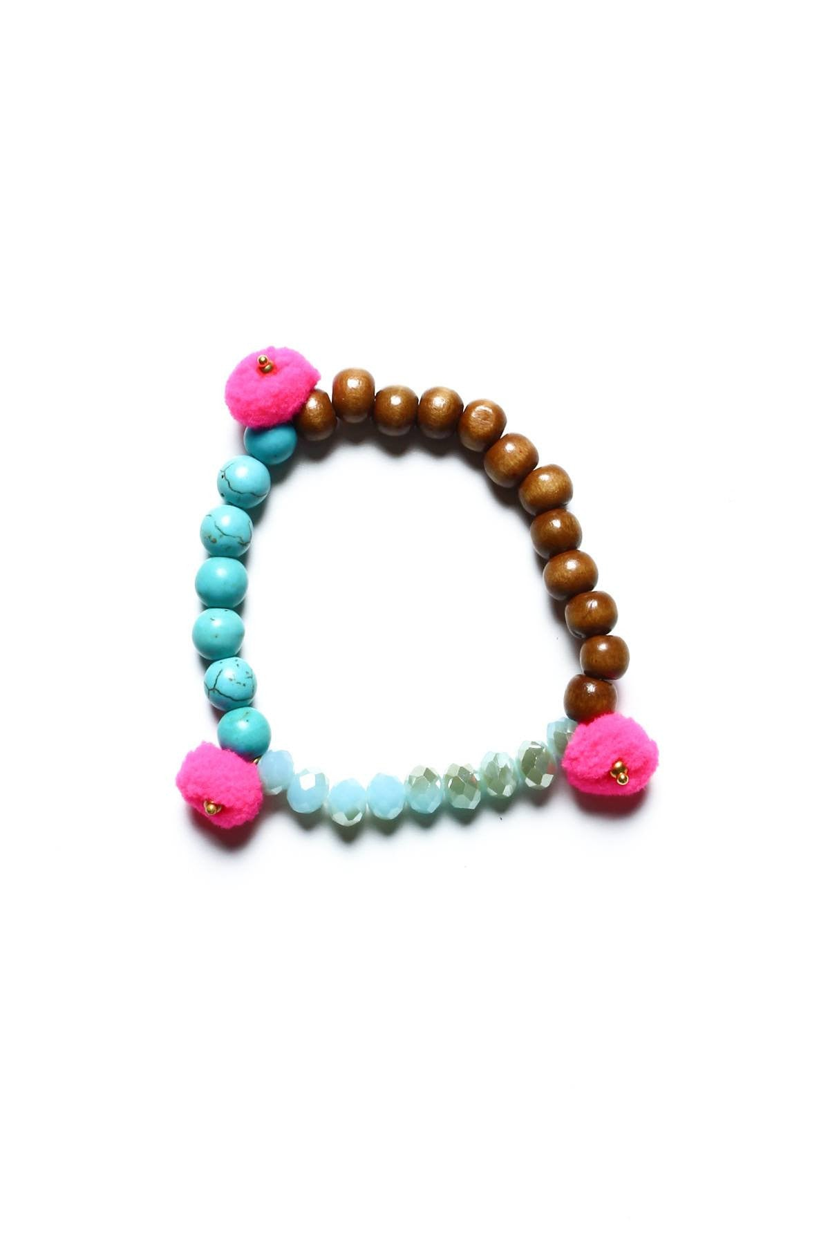 Bright Idea Beaded Bracelet - Pink