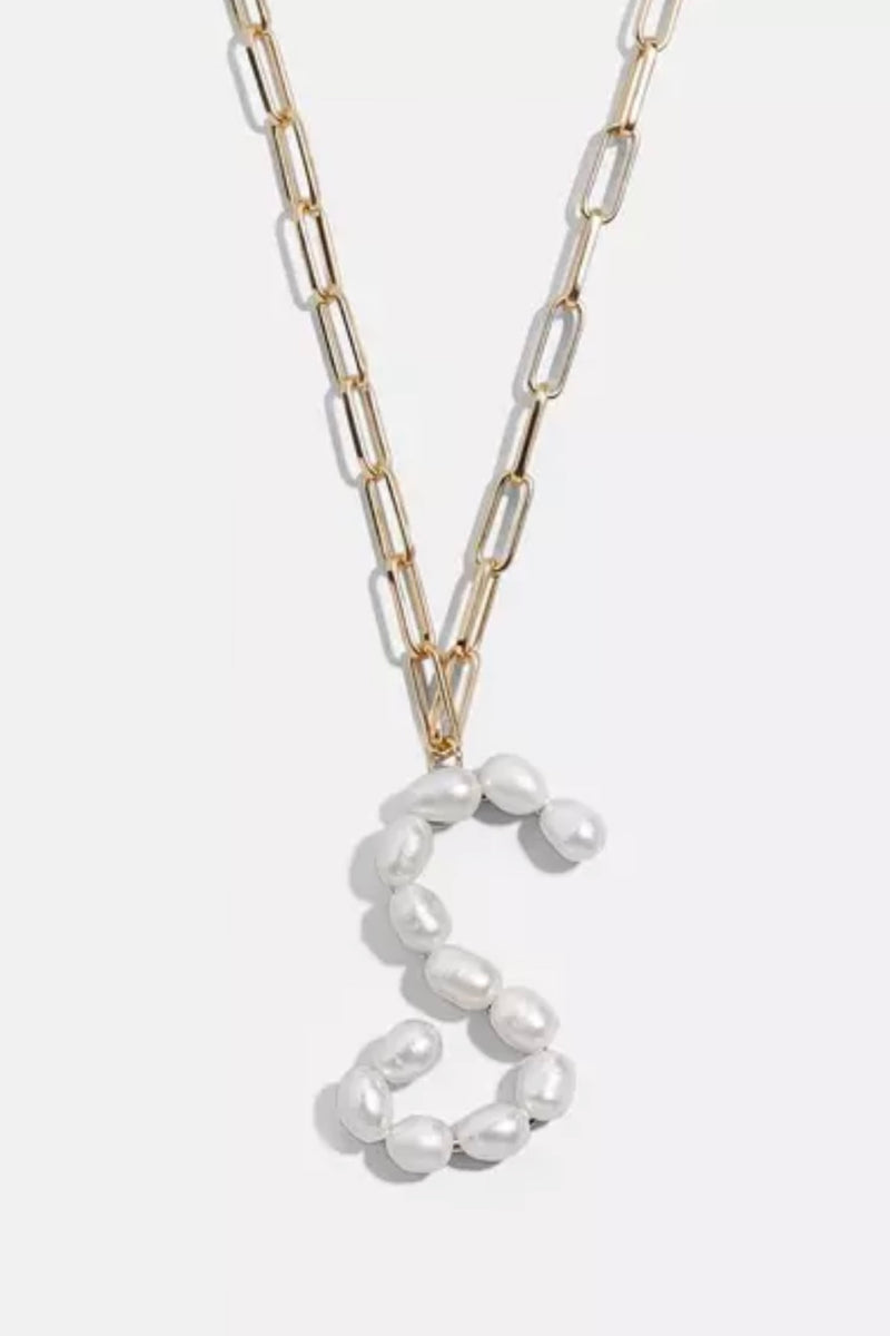 Pearl Initial Necklace