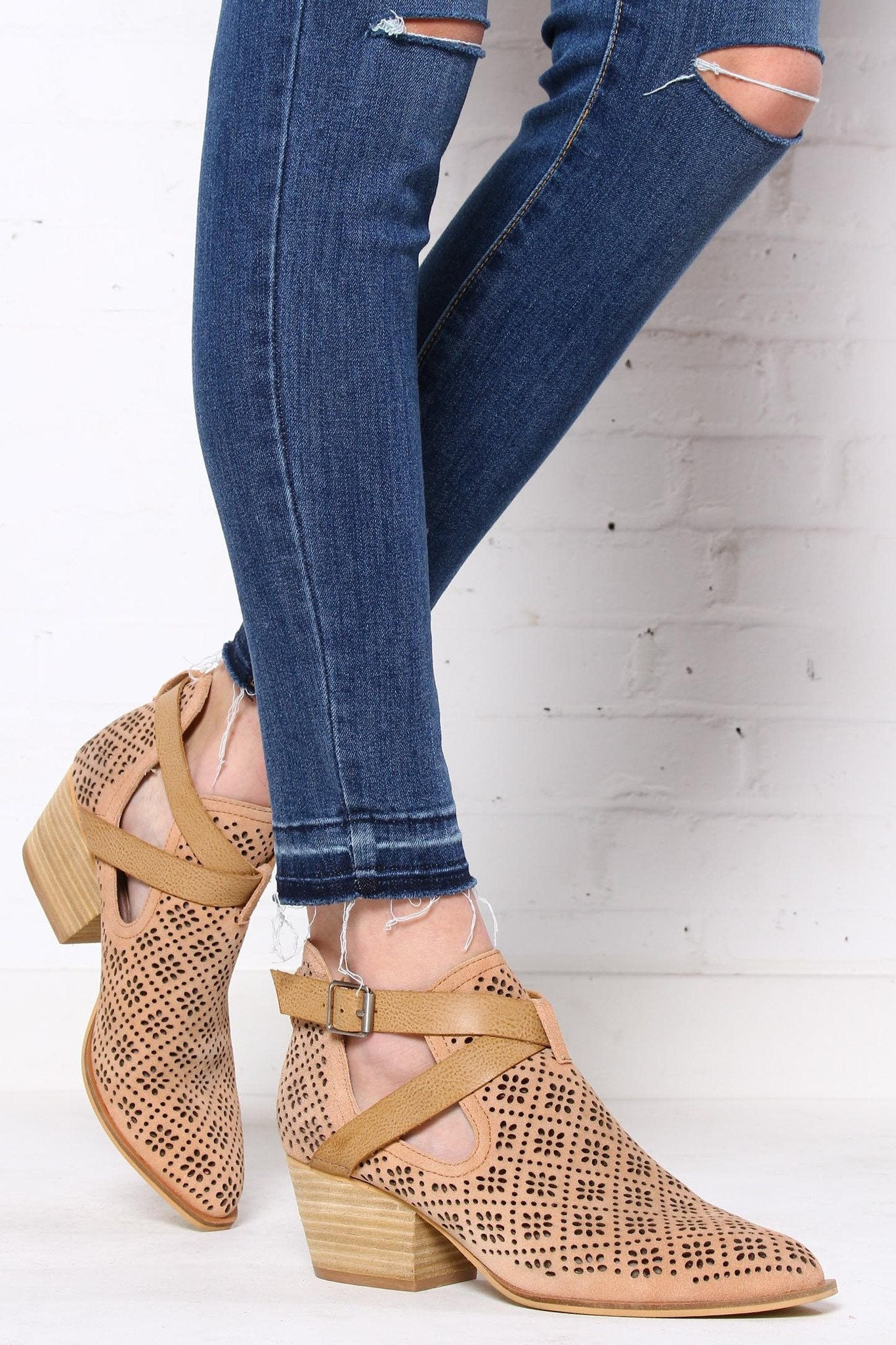 Chinese Laundry Sydney Cutout Ankle Boots
