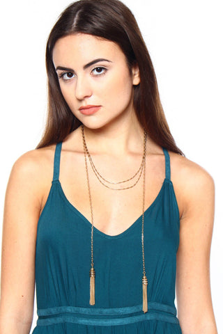 Queen Me Tassel Necklace