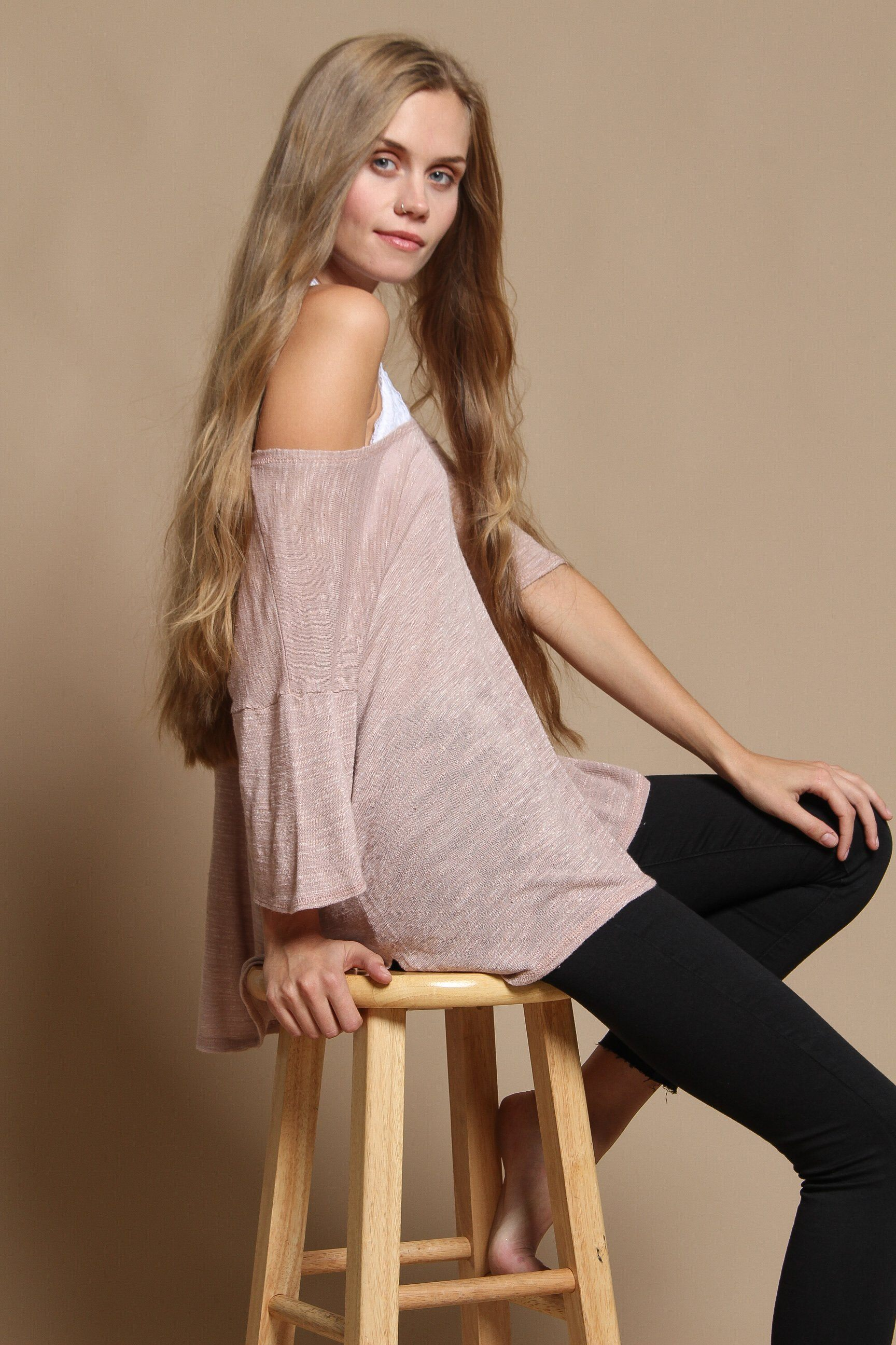 Project Social T Lacy Step Hem Tee