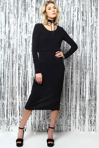 MINKPINK Cutting Corners Maxi Dress