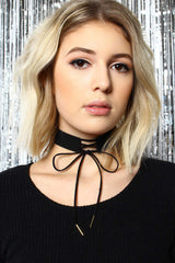 Straight Laced Choker - Black