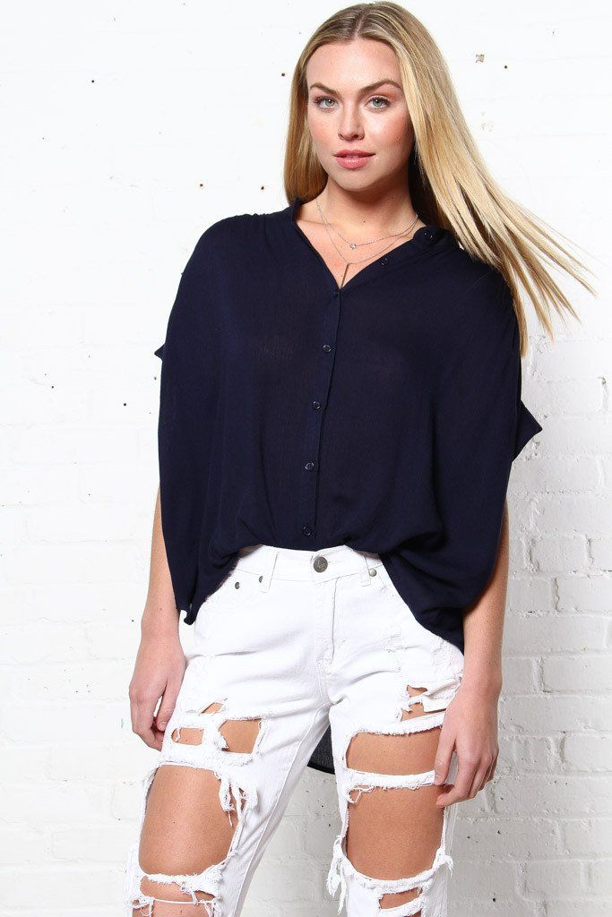Artie Button Down Top