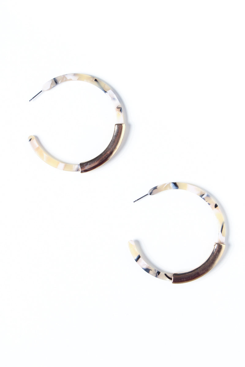 In The Mix Acrylic Hoops
