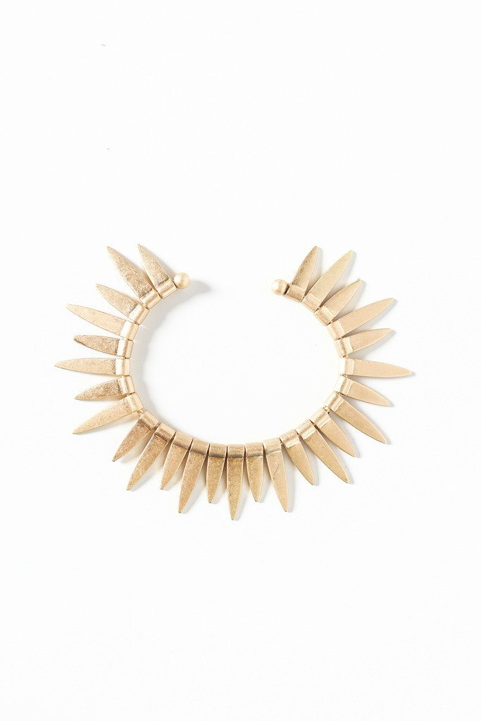 Medine Spike Cuff - Gold