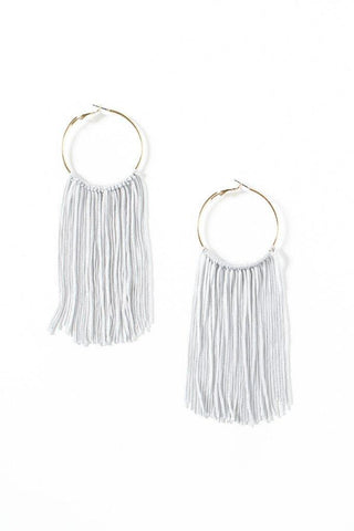 Full Length Fringe Hoops
