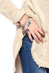 Leaf It To Me Wrap Bracelet - Silver