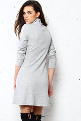MINKPINK Moving Up Funnel Neck Dress