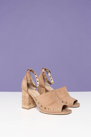 Chinese Laundry Savannah Ankle Strap Cork Heel - Tan