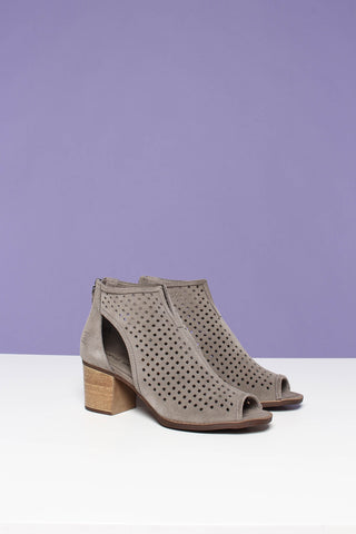 Chinese Laundry Tessa Peep Toe Suede Bootie - Gray