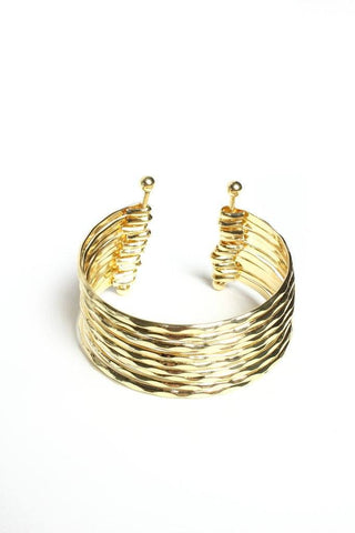 Stack Up Cuff - Gold