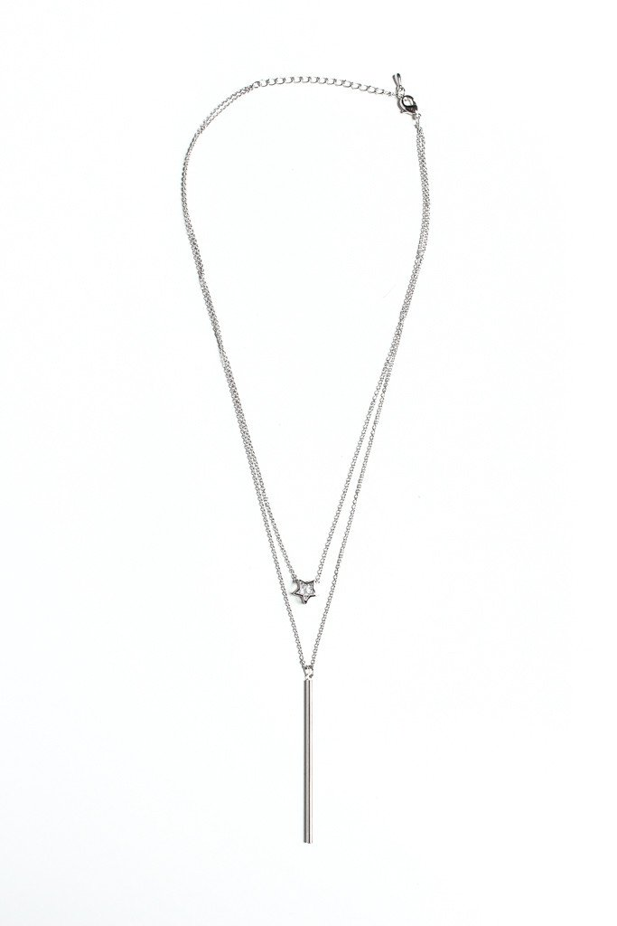 First Light Layered Necklace - Silver