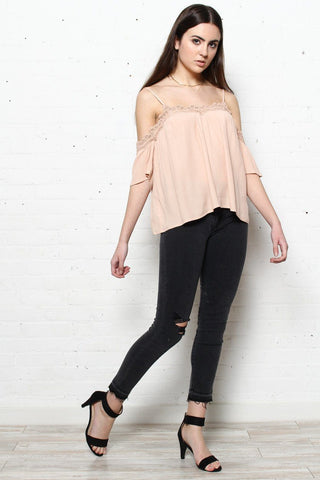 Lucca Caras Lace Trim Top