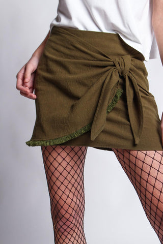 Reverse Twist & Shout Skirt - Army Green