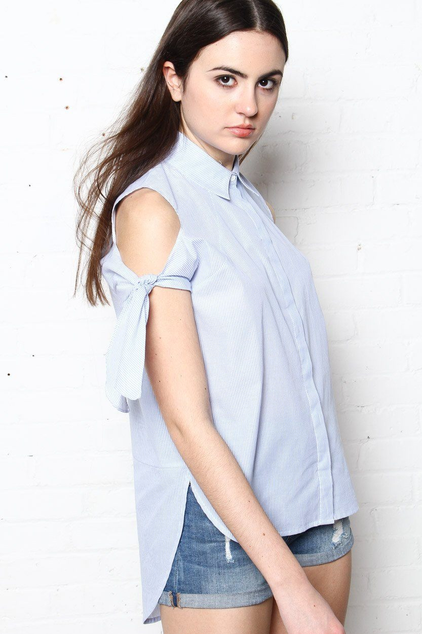By The Book Pinstripe Blouse