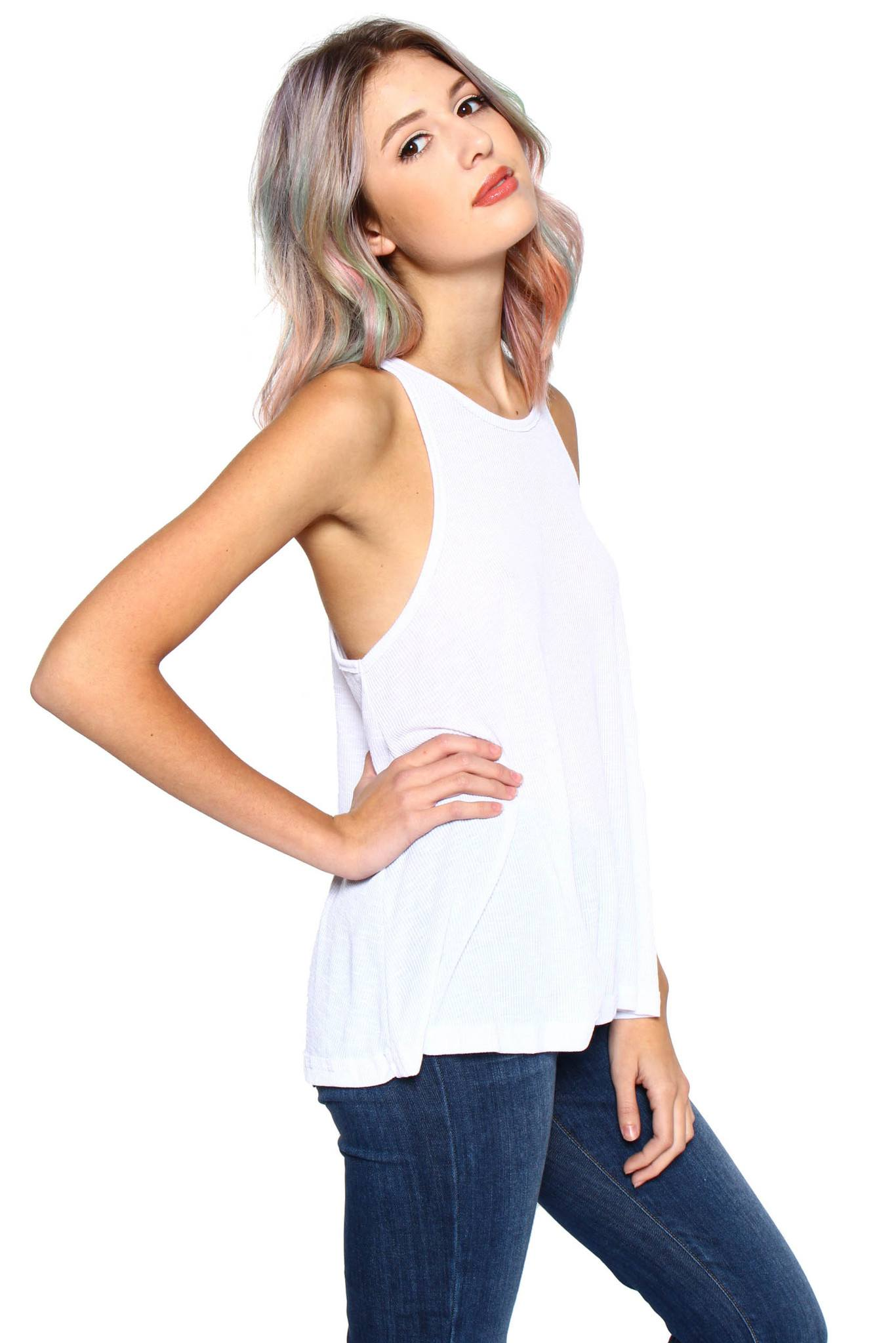 Free People Long Beach Tank - White